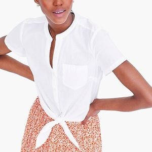 NWT J. Crew Factory Tie-front Button-up Shirt